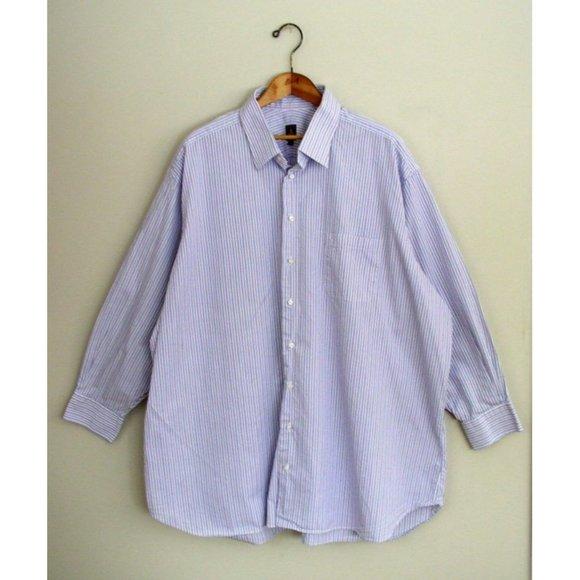 Robert Talbott Estate Mens Dress Shirt Purple Blue